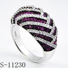 Anillo de joyería de plata 925 con rubí (S-11230)