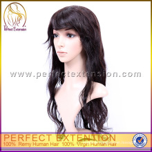 Cheap Chinese Virgin Remy Mono Topper Loose Wave Full Lace Wig