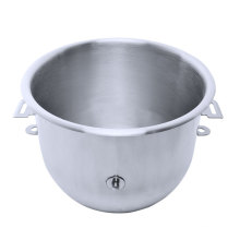 Commercial Kitchen use Stainless Steel Round Mixing Bowl with handle for food machine, knead dough and egg stirring