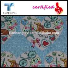cute cartoon charactor thanksgiving printed cotton sateen fabric for clothing