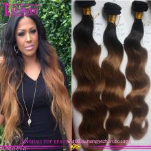 100% Девы организма переплетения волос волна omber #1b/8 бразильский Реми волос
