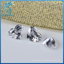 Piedras de zirconia cúbicas de la forma del corazón de la alta calidad del corte excelente bien pulido