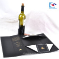 Cajas de empaquetado del vino tinto de la cartulina negra plegable de calidad superior