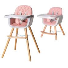 Регулируемый деревянный стульчик для кормления ребенка и малыша
