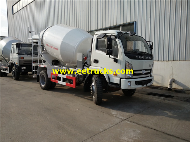2500L Small Concrete Mixer Trucks