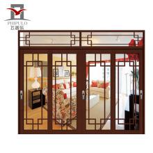 Puerta de baño de aluminio de alta calidad, diseño interior, hoja de cuatro puertas.
