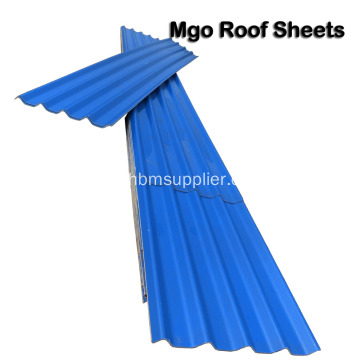 Anti-frostbite Brandbeständig No-asbest MgO Roofing Sheets