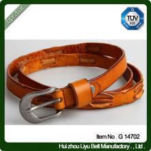 Fancy Design Ceinture en cuir véritable / ceinture en cuir unisexe
