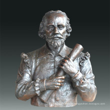 Large Figure Statue Dramatist Shakespeare Bronze Sculpture Tpls-085