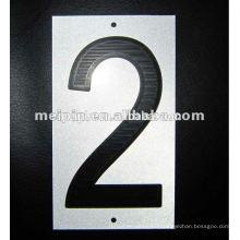 Autocollants réfléchissants Numéro d'impression pour les panneaux d'avertissement