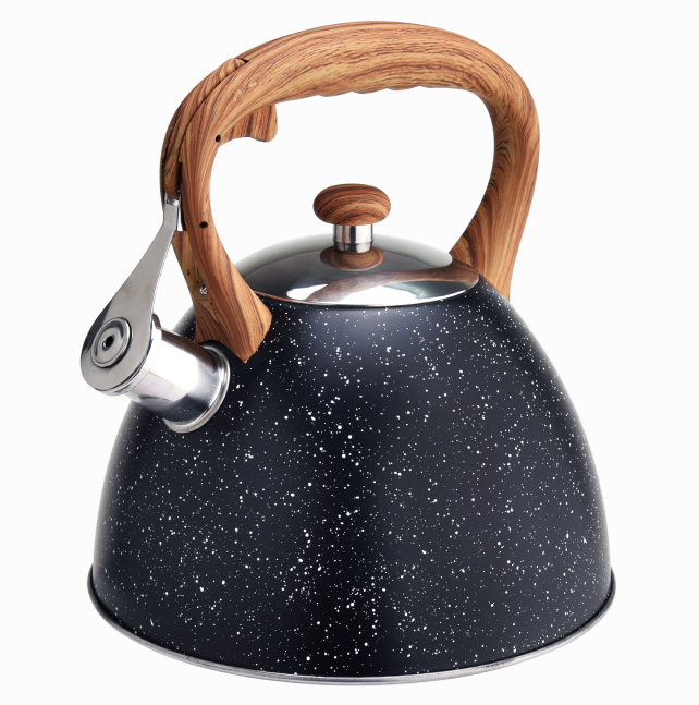 Woodlike Marble Tea Pot Kettle 410