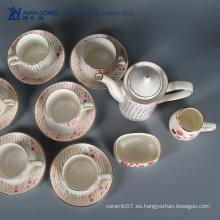 Juego de té de China de hueso antiguo valioso del uso del caff 15pcs / té y café fija por completo de la cultura china