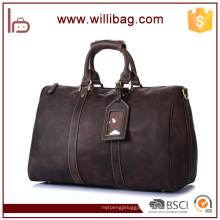 Factory Holdall Travel Bag Men Leather Duffle Bag
