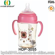 Recentemente a 330ml personalizado plástico bebê mamadeira, BPA livre PPSU bebê mamadeira (HDP-3055)