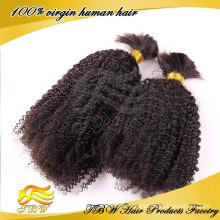 Achat en vrac de cheveux humains péruviens, extensions de cheveux en vrac en gros afro kinky