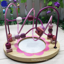New Arrival Kids Wooden Roller Bead Coaster with a mirror