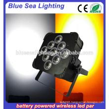 9pcs 18w RGBWA UV led up-light wireless dmx led lights led par party