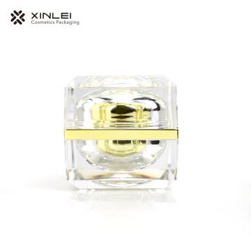 Tarro cosmético de lujo cuadrado de boca ancha de 50 g