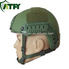 FAST High Cut Aramid helmet With Rails and Shroud Army Ballistic Helmet for sale