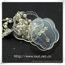 Flower Packing Box, Religious Rosary Box (IO-p026)