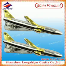 Mini Flugzeug Metall Dual Plating Tie Clips