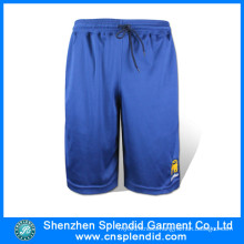 Custom Plain blue High Quality Polyester Running Mens Shorts