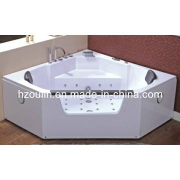 White Acrylic Sanitary Whirlpool Massage Bathtub (OL-643)
