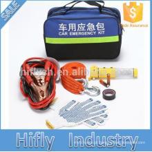 Kit de segurança de emergência do carro de segurança corda de reboque de martelo ponto luvas fita elétrica cabo da bateria portátil reflexivo