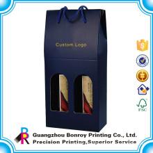 6 bottle Corrugated Cardboard Paper Wine Cylinder Box Printing