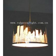 Moderno espejo de acero inoxidable lámpara colgante