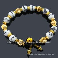 Bijoux en céramique Bracelet en perles de porcelaine BC-002
