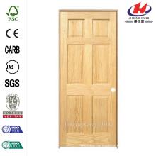 30 polegadas x 80 polegadas Pro Collection Painel de 6 painéis sólidos Pine Single Prehung Porta Interior