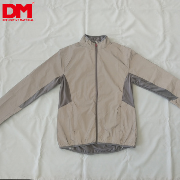 DM soft casual hiphop Full Reflective Coat Chaqueta cortavientos con capucha Fashion Runing ciclismo Pocket Jacket
