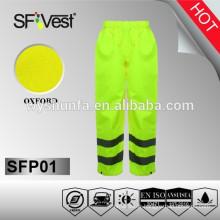 Pantalon étanche en PVC imperméable avec tissu oxford 300D, EN ISO 20471