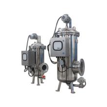 Strapazierfähiges, elektrisch angetriebenes, selbstreinigendes Wasserfilter mit drehbarem Bürstenreinigungsmechanismus
