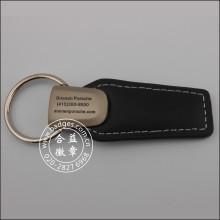 Leather Key Chain, Custom Metal Key Ring (GZHY-KA-012)