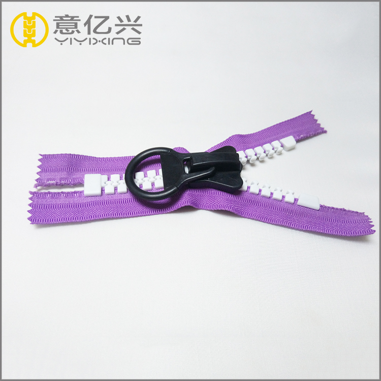Double Sided Black Plastic Zipper