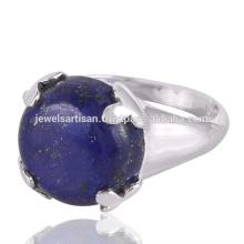Belle anneau en argent massif Lapis Gemstone 925