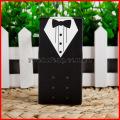 100pcs noivo noiva vestido smoking festa casamento favor fita doces caixas presente