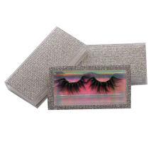 SL031H Hitomi 100% 3d Real Mink Eyelashes soft natural mink eyelashes Fluffy 25mm Magnetic Mink Eyelashes