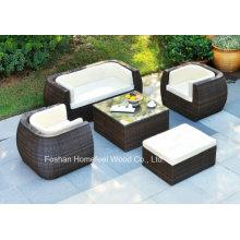 Mobilier d'extérieur détendant Ensemble de canapé en osier de jardin 5 pièces