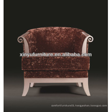 Big upholstered round arm sofa chair XY2430