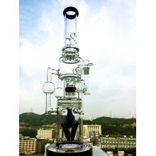 Wholesale 3 Recyclers Showerhead Glass Smoking Pipe