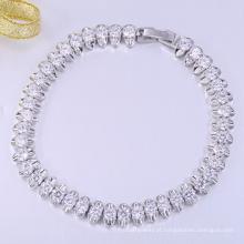 Novo ouro branco artesanato feliz natal pulseiras de presente