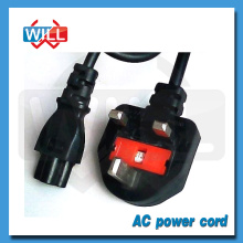 Factory Wholesale UK British fuse ac power cord with extension cord