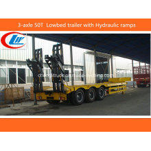 Heavy Duty 3-Axle 50ton-60ton Lowbed Truck Trailer