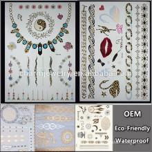OEM Tatuaje al por mayor del reloj con el tatuaje del leopardo marcas de fábrica temporales etiqueta engomada temporal del tatuaje para los adultos QY101