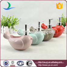 YSb10022 available color ceramic hand soap dispenser bird shape