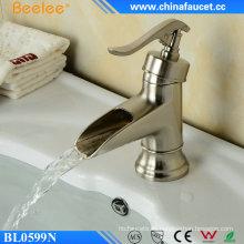 Waterfall Ek Chrome - Grifo de lavabo de níquel cepillado para baño