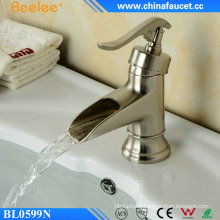 Waterfall Ek  Chrome Brushed Nickle Basin Faucet for Bathroom
